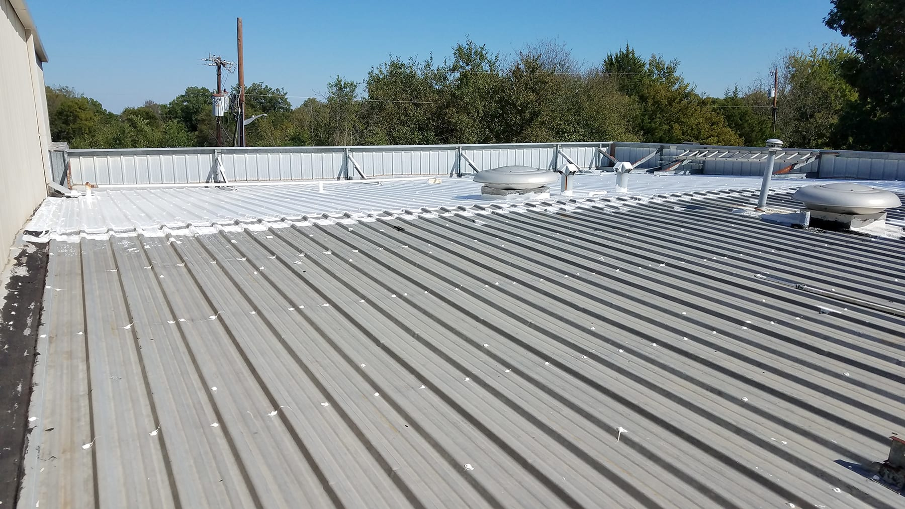 Metal Roof-before and after